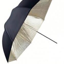 Linkstar Flitsparaplu PUK-84GB Goud/Zwart 100 cm (Omkeerbaar)