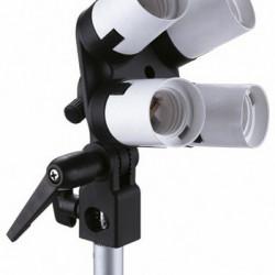 Linkstar Lamphouder LH-4U voor 4 Lampen + Parapluhouder + Tilting Bracket