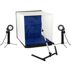 Linkstar Opnamebox Set PBK-50 50x50 Opvouwbaar + 2x50W Lampen