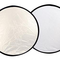 Linkstar Reflectiescherm 2 in 1 R-110SW Zilver/Wit 110 cm