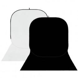 StudioKing Background Board BBT-01-20 Wit/Zwart 400x150 cm