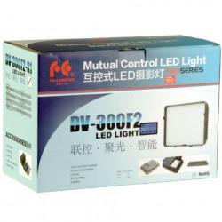 Falcon Eyes Bi-Color LED Lamp Set Dimbaar DV-300F2-K1 incl. Accu