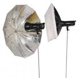 Falcon Eyes Studioflitsset Satel Two Kit op Accu voor Nikon