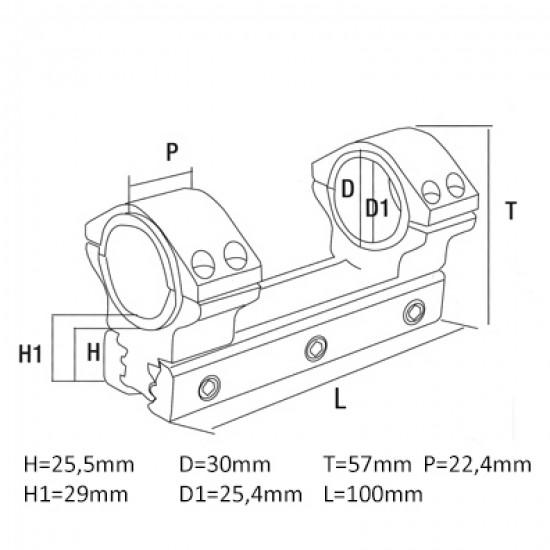 Konus Universele Montering voor 30-25,4 mm
